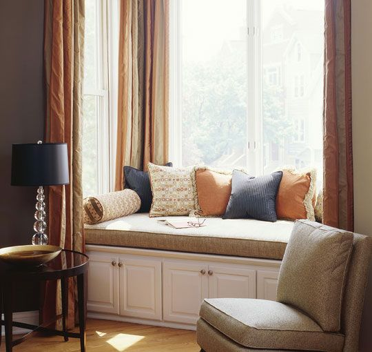 Window Seat Drapes Google Search Ventanas Pinterest