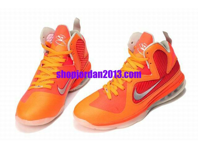 New Nike LeBron 9 Shoes Orange/Red Lebron James Shoes #Red #Womens #