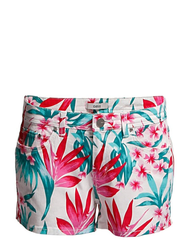 Oasis Oasis Tropical Palm Print Short
