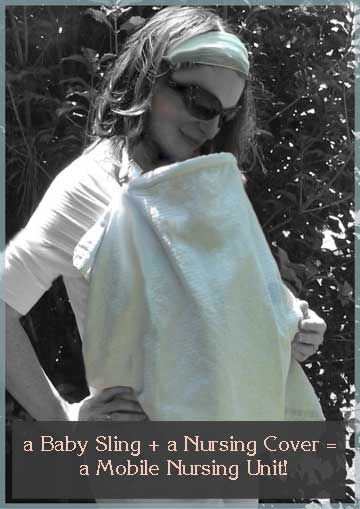 Sew Your Own Nursing Cover...not quite cloth diapering, but baby related.