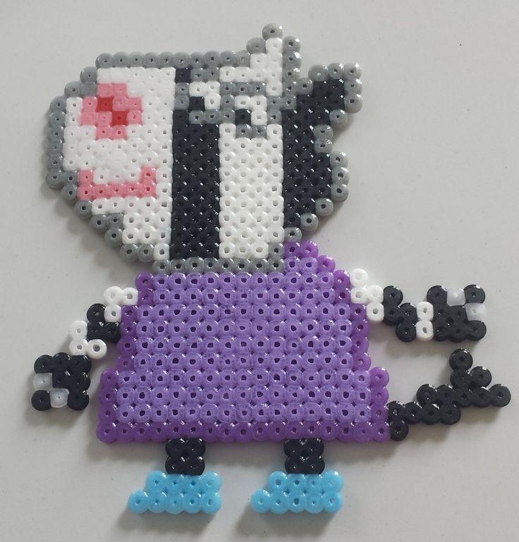 Magnet collection Peppa Pig, Zoé Zebra en Perle hama : Accessoires de maison par mes-petites-pommes
