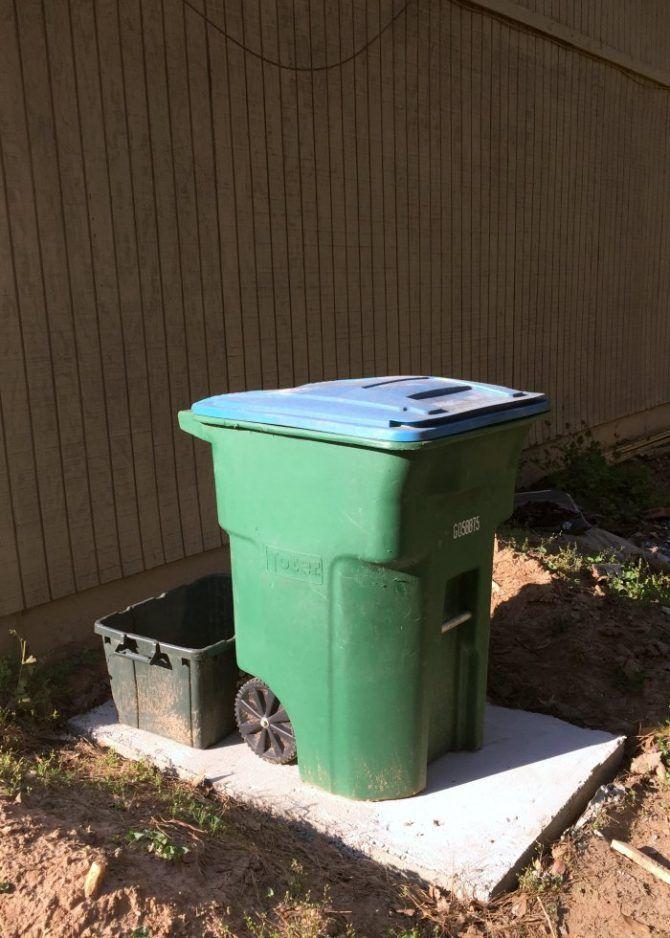 Diy Betonplatte Fur Abfalleimer Abfalleimer Betonplatte Concrete Slab Diy Concrete Slab Concrete Diy