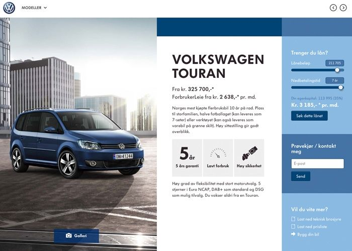 Volkswagen Showroom | CSS Website