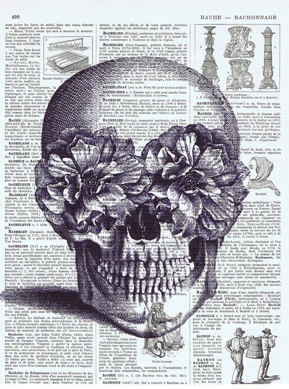 Repurposed vintage book page; vintage skull and flowers buy 3 get 1 free JACKIE BASSETT COLLAGE ART is a WATERMARK and will NOT appear on your page************PLEASE READ!!! IMPORTANT SHOP NOTICE***************** I am in Canada; AVERAGE SHIPPING TIME TO U.S.A. 4-10 **BUSINESS** DAYS (do not count SATURDAY AND SUNDAY). Weekday orders are generally shipped within 24 hours of payment received. Orders received after Friday noon and on the Weekend are shipped MONDAYS. Buy three altered boo...