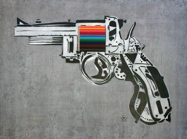"Saatchi Art Artist Mark Fitz; Painting, ""Creative Gun"" #art"