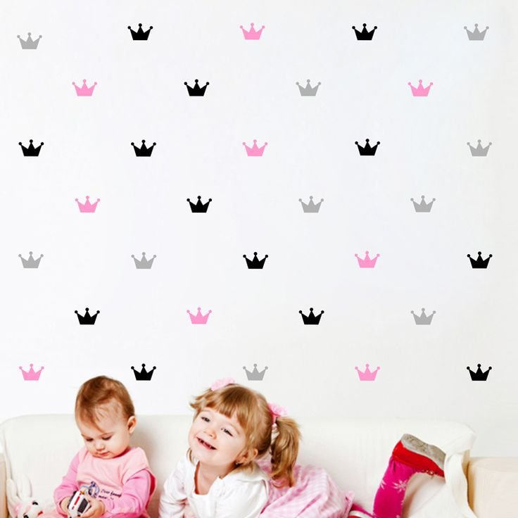 40 pcs kid's bedroom decorate wall sticker Princess baby wall decor Crown pattern wall paste sticker for kids