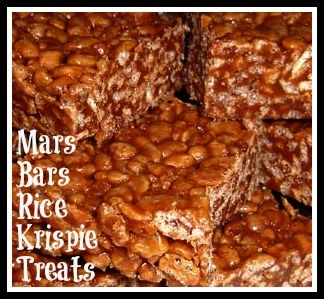 Great way to use up leftover Halloween candy {Mars Bars}