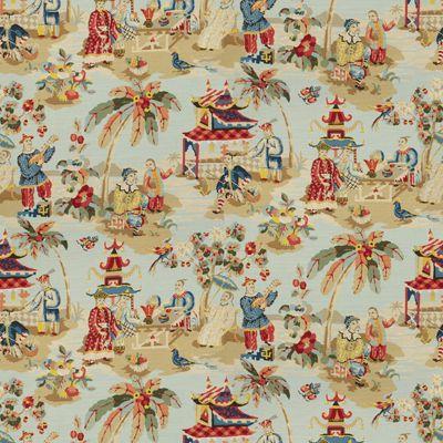 Xian Linen Amp Cotton Print Sky Brunschwig Amp Fils Fabric