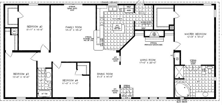 19 best double wide mobile home floor plans images on for 2000 square foot mobile home