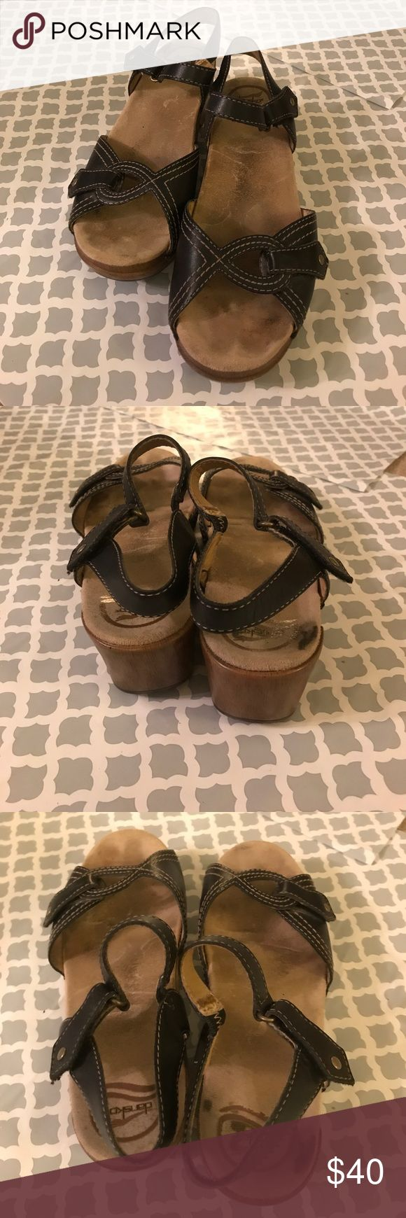 Dansko sandals Used and has some markings, but still a great pair of shoes!!! Leather upper lining. Dansko Shoes Sandals