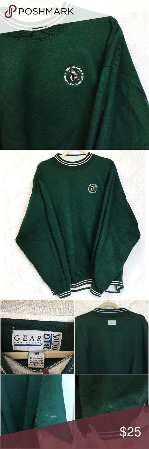 1995 U.S. Open Golf Embroidered Spell Out Sweater In good vintage condition, two small spots as shown, no other notable flaws. Smoke free home. Vintage Shirts Sweatshirts & Hoodies