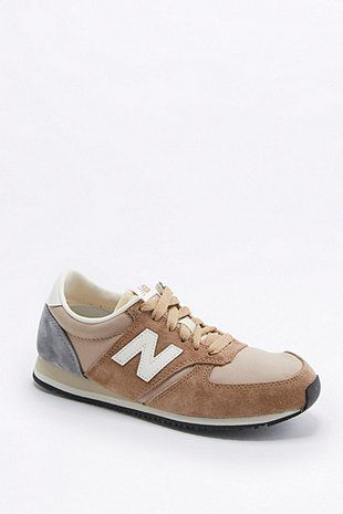 New Balance 420 Tan Suede Trainers