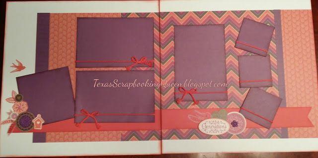 Texas Scrapbooking Queen: Sangria - 3 page Layouts