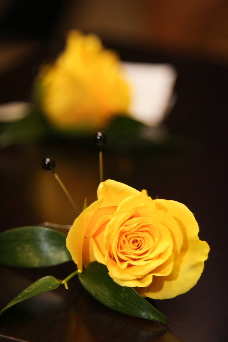 Yellow Rose Boutonniere by Blume Events www.idoaz.com Photography by www.ltlphotos.com