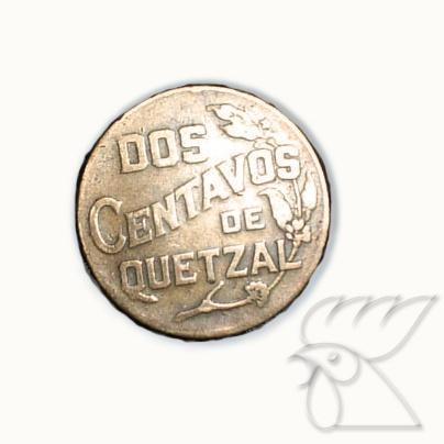 Moneda de dos centavos de Quetzal. ¡Parte de la historia 100% Guate!