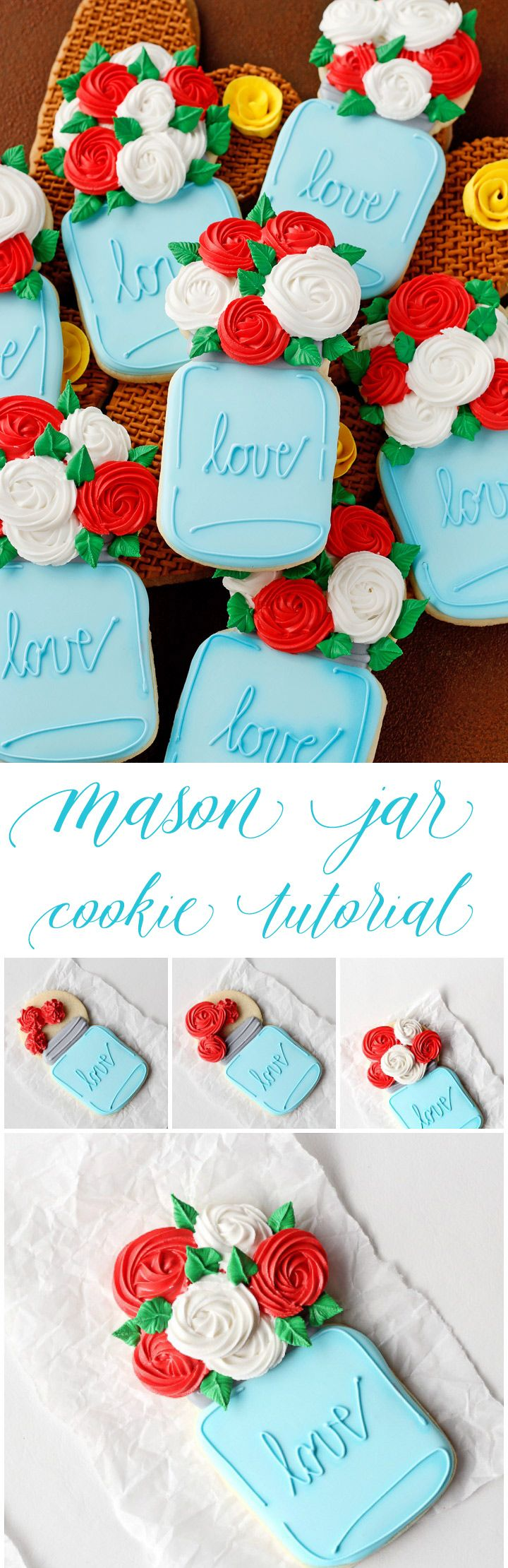 How to Decorate Mason Jar Cookies with a How to Video | The Bearfoot Baker