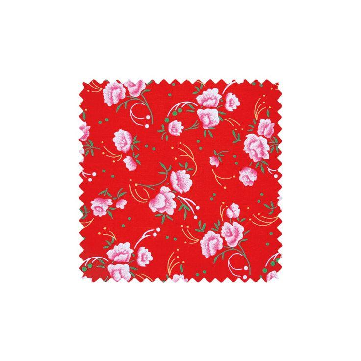 Coton Petite Pivoine rouge