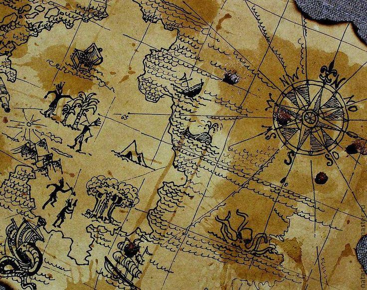 Старая пиратская карта картинки