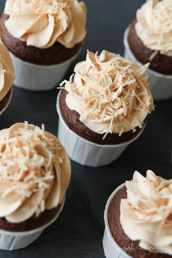 Filled German Chocolate Cupcake Recipe