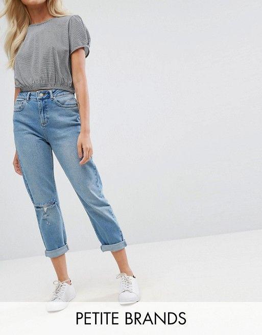 Miss Selfridge Petite Mom Jeans