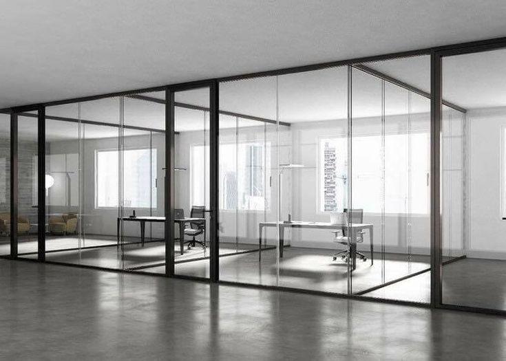 Instalación de oficina con nuevo sistema de divisiones 3-6-9 de Estel.