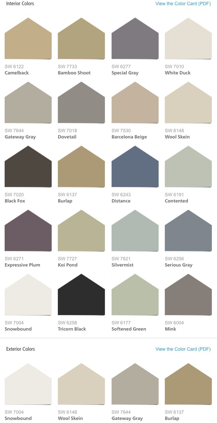 Sherwin williams color chart for interior paint awesome for Interior house paint color chart