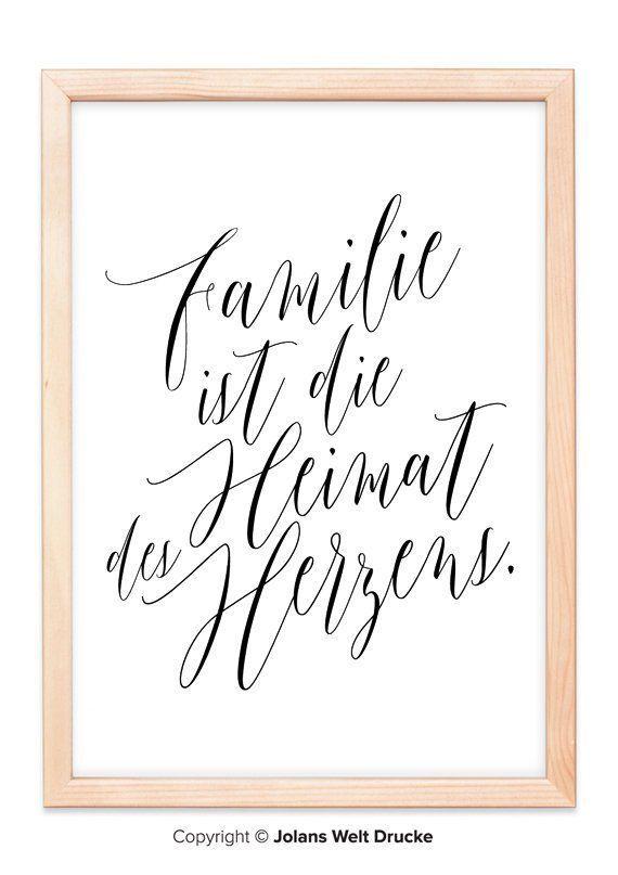 Familie Ist Die Heimat Von Jolanswelt Kunstdrucke Familie Spruch Zitat Tattoo Spruche Familie Zitat Familie Und Family Spruch