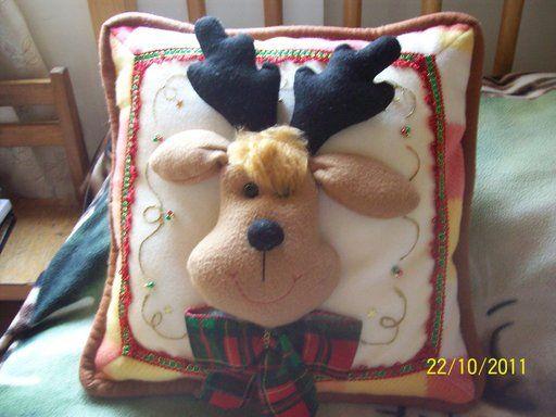 cojines navidenos renos (3) | Aprender manualidades es facilisimo.com