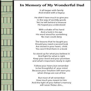 Memorial Keepsake Poem| Poems