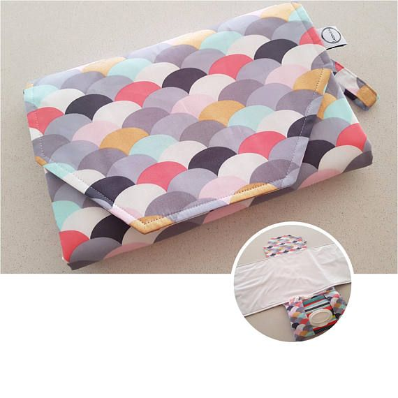 Nappy change mat clutch holds wipes and 3 to 4large nappies