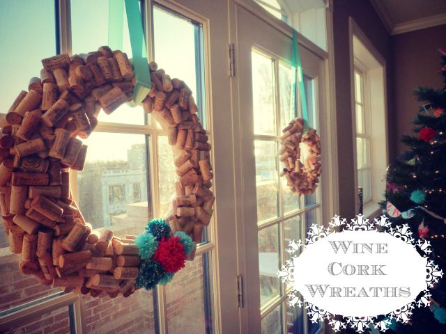 Design Improvised: Cork Wreath. #12daysofchristmas