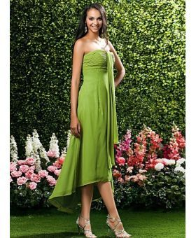 TOBEY - Bridesmaid dresses Cheap Sheath/Column Asymmetrical Chiffon Sweetheart Wedding party dress