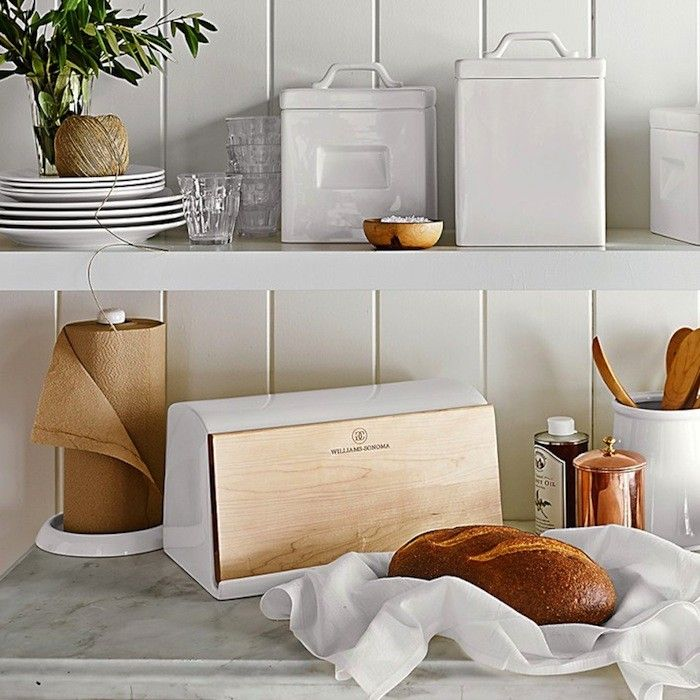 Breadbox:  Ceramic and Wood Paper Towel Holder from Williams-Sonoma | Remodelista