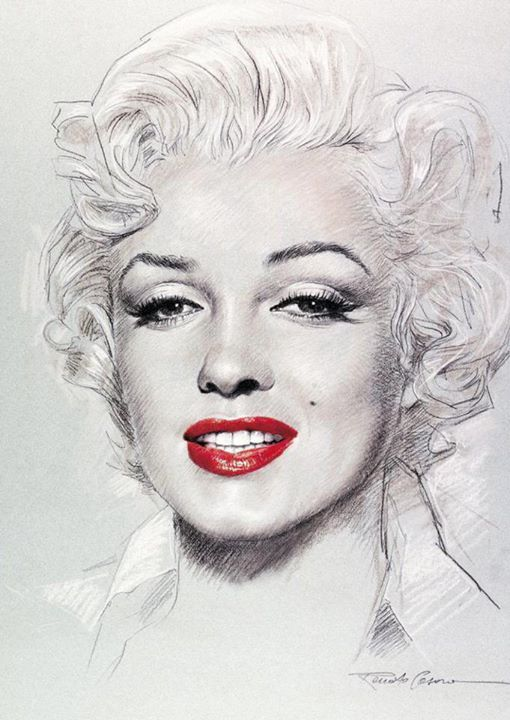 how to draw marilyn monroe youtube