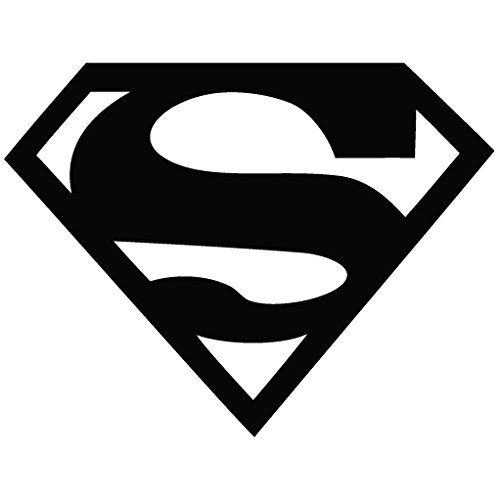 Superman Logo - Movie Decal [15cm Black] Vinyl Removable Decorative Sticker for Wall Car Ipad Mac @ niftywarehouse.com