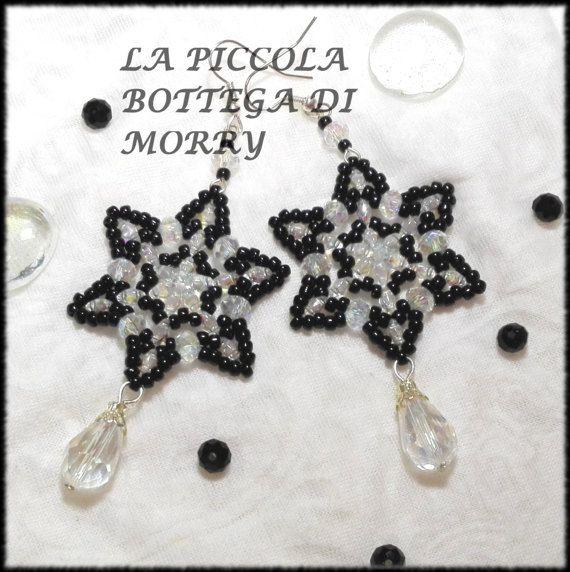 Orecchini a forma di stella pendenti lunghi in di LaBottegaDiMorry