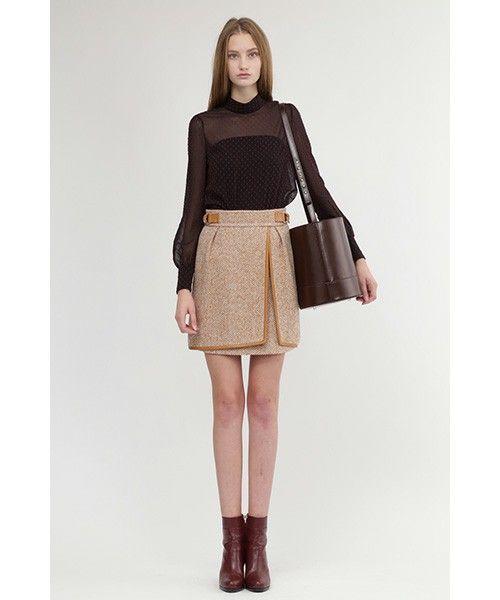 JILLSTUART(Skirt)(スカート)のループヘリンボーン台形スカート(スカート)|詳細画像