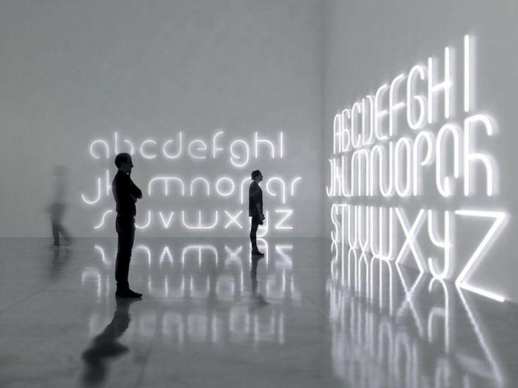 LED wall mounted Light letter ALPHABET OF LIGHT by Artemide Italia design BIG - Bjarke Ingels Group