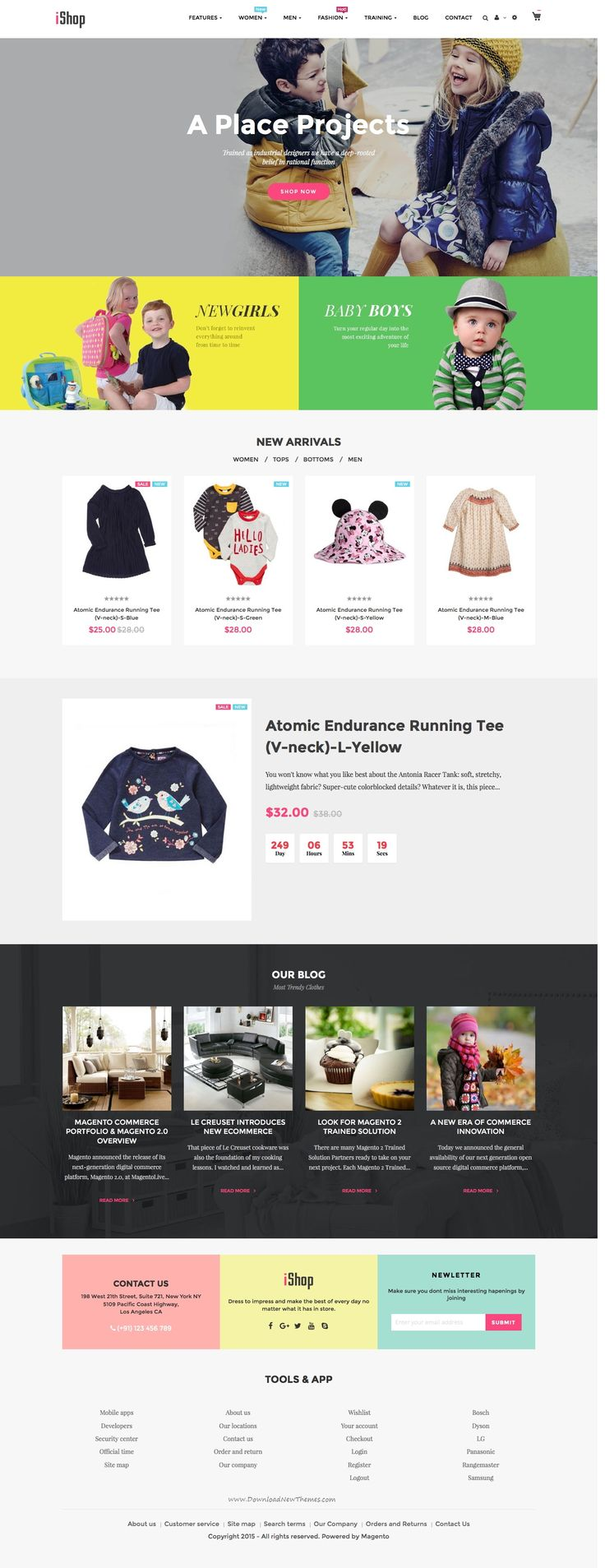 Ves iShop Magento 2 Responsive Template will be perfect for Kids store…