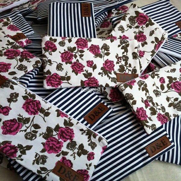 Flowery pouches