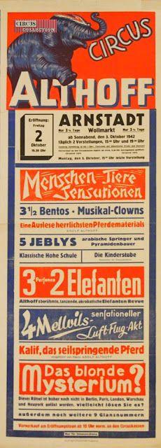 Circus collection: Circus Althoff 1942
