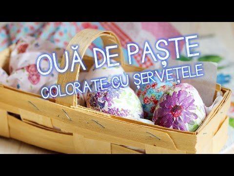Ouă de Paște colorate cu șervețele | Bucătar Maniac - YouTube