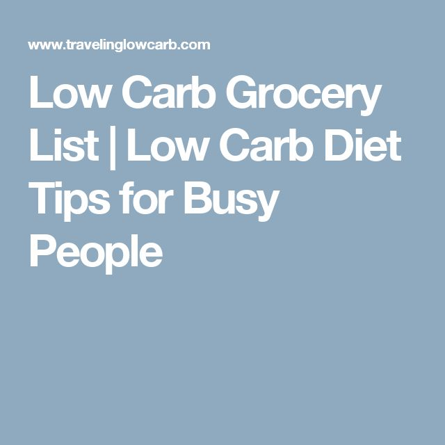 Low Carb Grocery List | Low Carb Diet Tips for Busy People