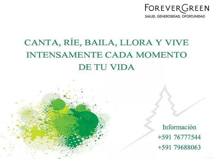 CANTA, RÍE, BAILA, LLORA Y VIVE INTENSAMENTE CADA MOMENTO DE TU VIDA  #Motivacion #Liderazgo #HernanLara #ForeverGreen   https://www.facebook.com/motivacionyliderazgoMLM/