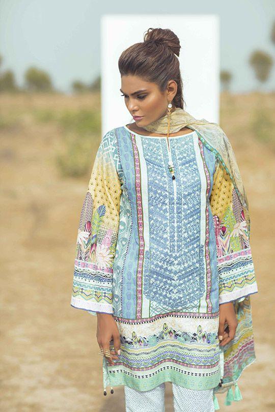 """Zara Abid for Coco by Zarah Shahjahan Lawn S/S 2016 """