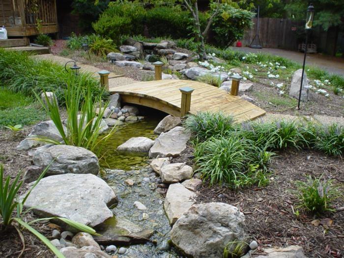 walkway+over+koi+pond | Carolina Pondscapes, Inc. | backyard ideas | Pinterest | Galleries