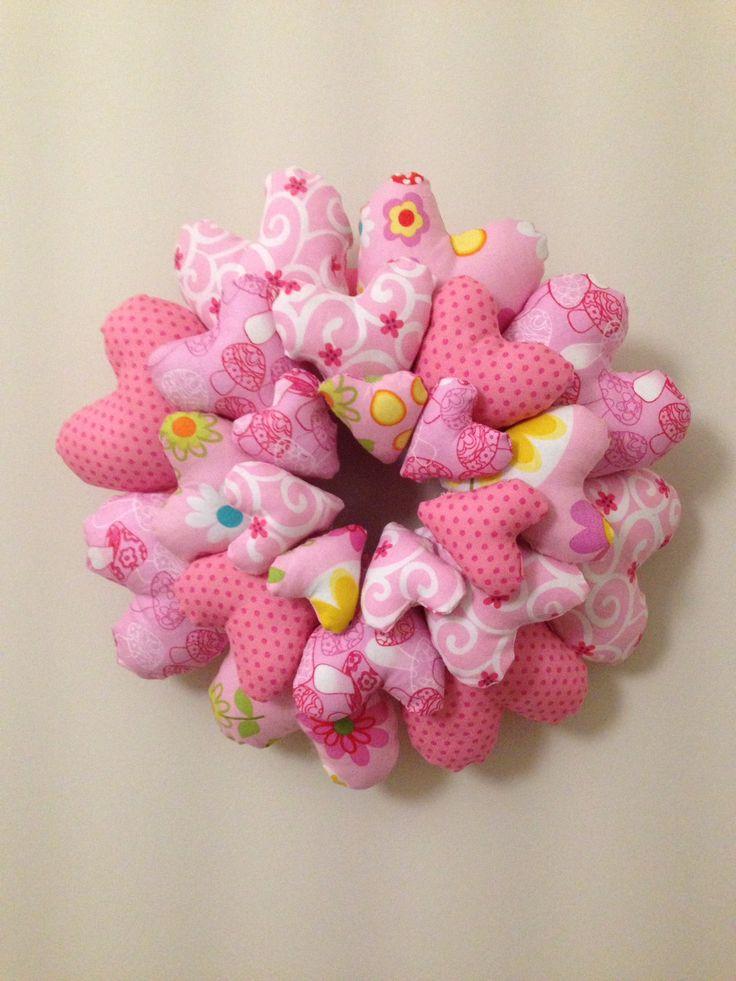 Guirnalda corazones  patchwork/ hearts