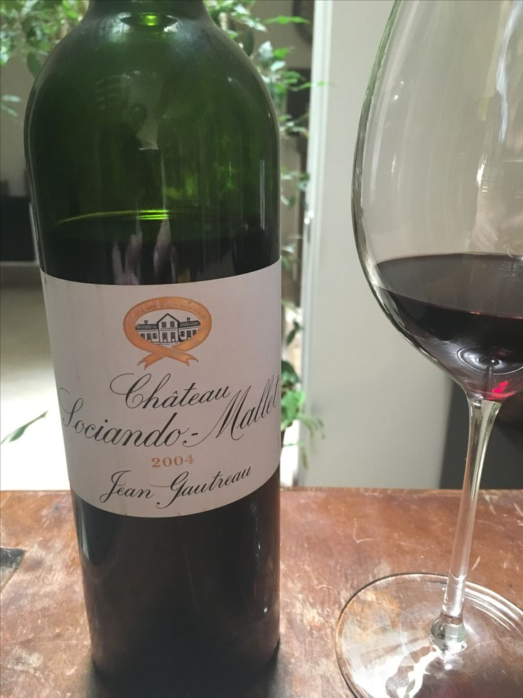 Château Sociando-Mallet 2004. It was worth the wait. A delicious Bordeaux full of character.