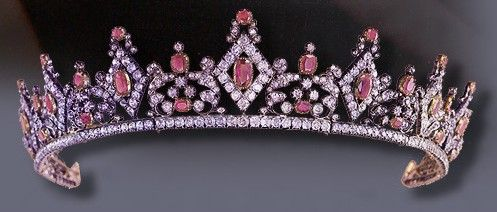 Clementine of Saxe-Coburg Ruby Tiara, later purchased and brought into Thurn und Taxis family.