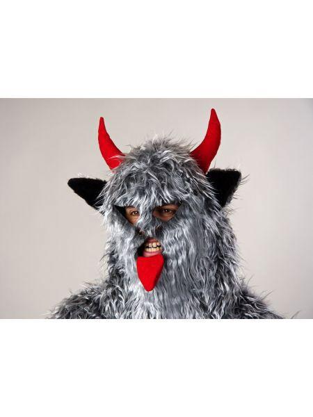 "https://11ter11ter.de/46892065.html Halloweenmaske ""Teufel Krampus"" mit Hörnern und Fell #11ter11ter #halloween #gruselig #creepy #mask #maske #fasching #karneval #accessoires"
